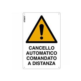 Cartello cancello automatico - 30x20 - alluminio