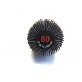 Spazzola abrasiva lamellata - 30x20x6 gr.80