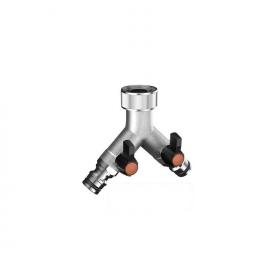Presa rubinetto 2 vie   claber - 9602 ottone - 3/4 - rapido      metal-jet