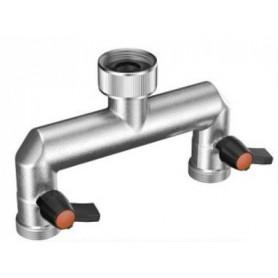 Presa rubinetto 2 vie   claber - 9601 ottone - 3/4 - 3/4 metal-jet