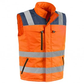 Gilet valico - tg.l - arancio - alta visibilita'