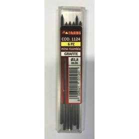 Mina ricambio matita      mass - 1124 - graffite - d.2,8