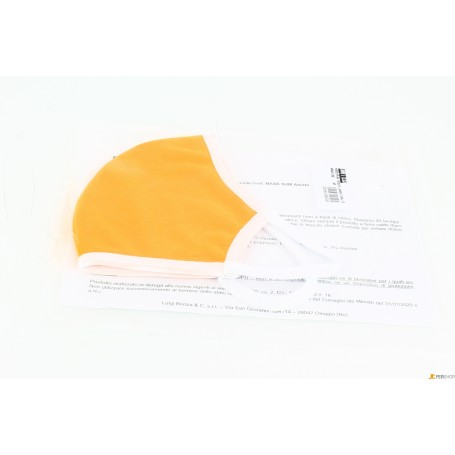 Mascherina tessuto lavabile - arancione - alta qualità