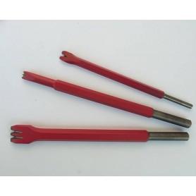 Gradine per martello cuturi - mm.15 da 4 punte - attacco 12,5