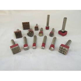 Bocciarda per martello cuturi - 25 x 25  9 punte - attacco 12,5